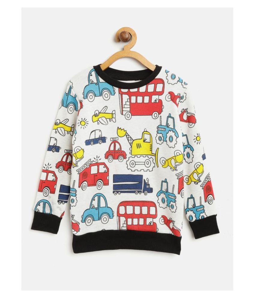 Lazy Shark Kids Boys Cars Sweatshirt