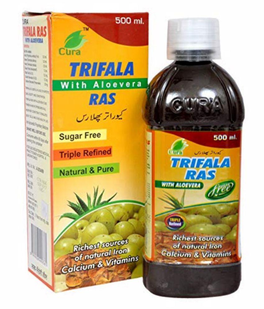 CURA PHARMACEUTICALS Trifala Ras Liquid 1000 ml Pack Of 2