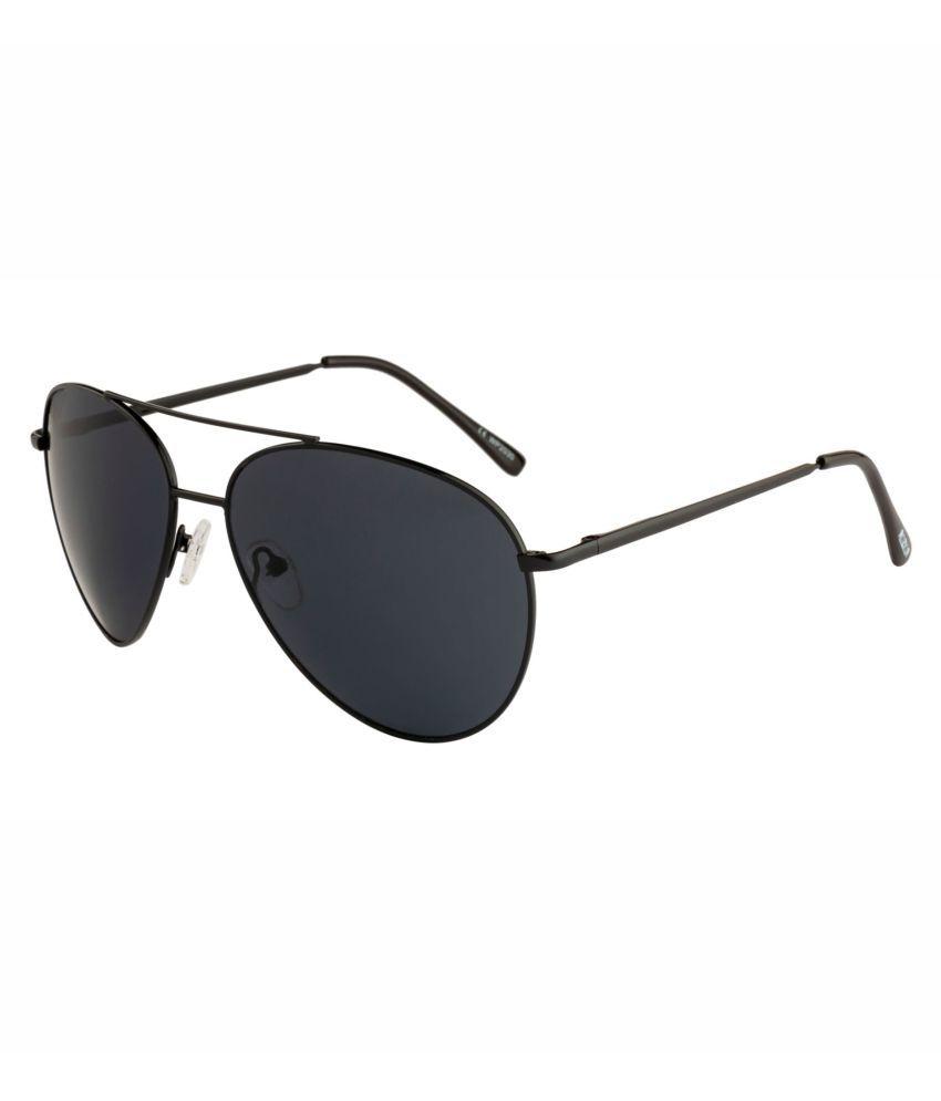ROZIOR - Black Pilot Sunglasses ( na )