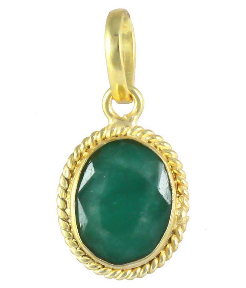 Swasti Retail 4.25 Ratti Natural Emerald/Panna Gemstone Pendant/Rashi ratna Gemstone Pendant for Men & Women Jewellery