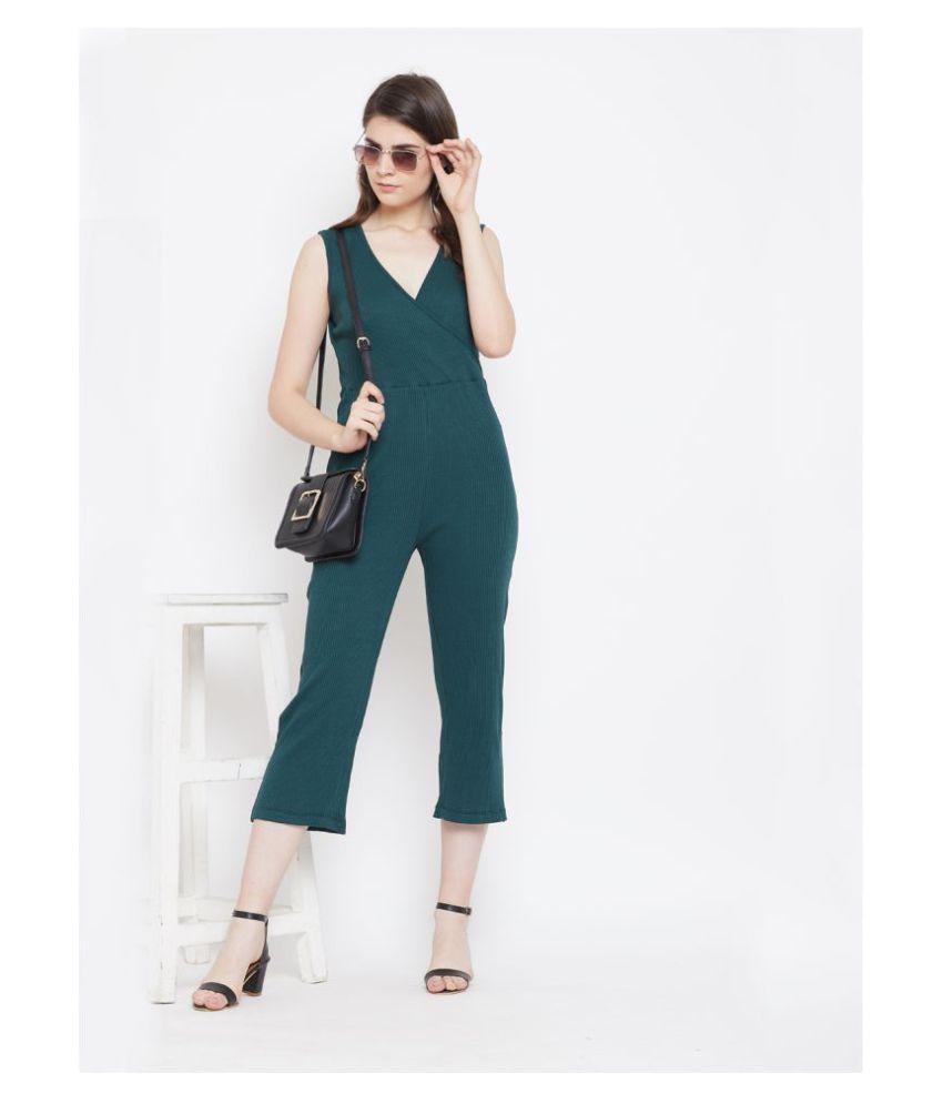 AUSTIN WOOD Green Cotton Jumpsuit