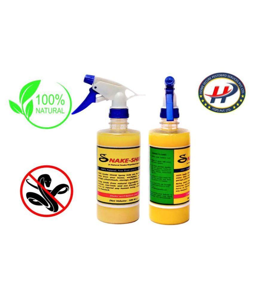 HSPS Snake-Shield Natural Snake Spray 100% Natural Non Toxic  500 ML Pack of 2