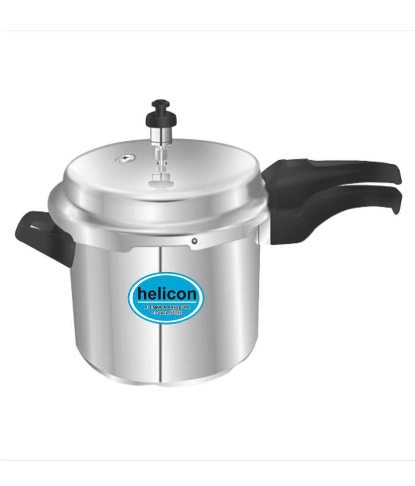 Helicon Premium 5 L Aluminium OuterLid Pressure Cooker Without Induction Base