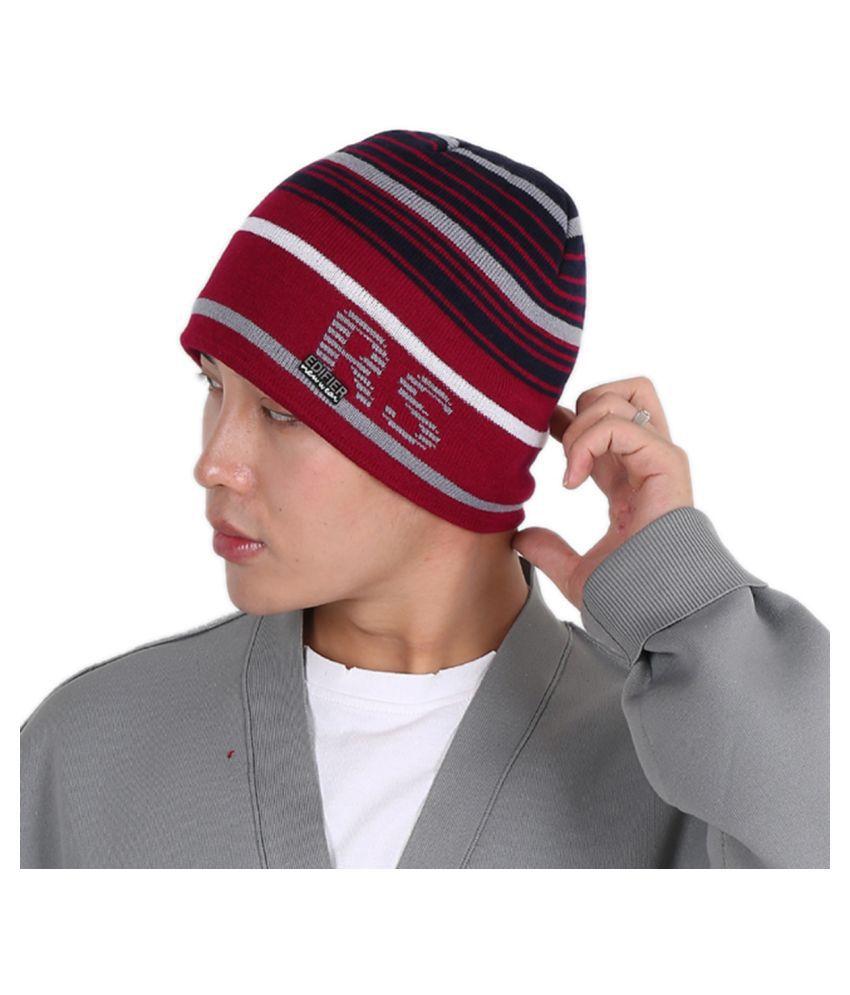 Edifier Woollen Winter Cap for Men & Women (Pack of 1)