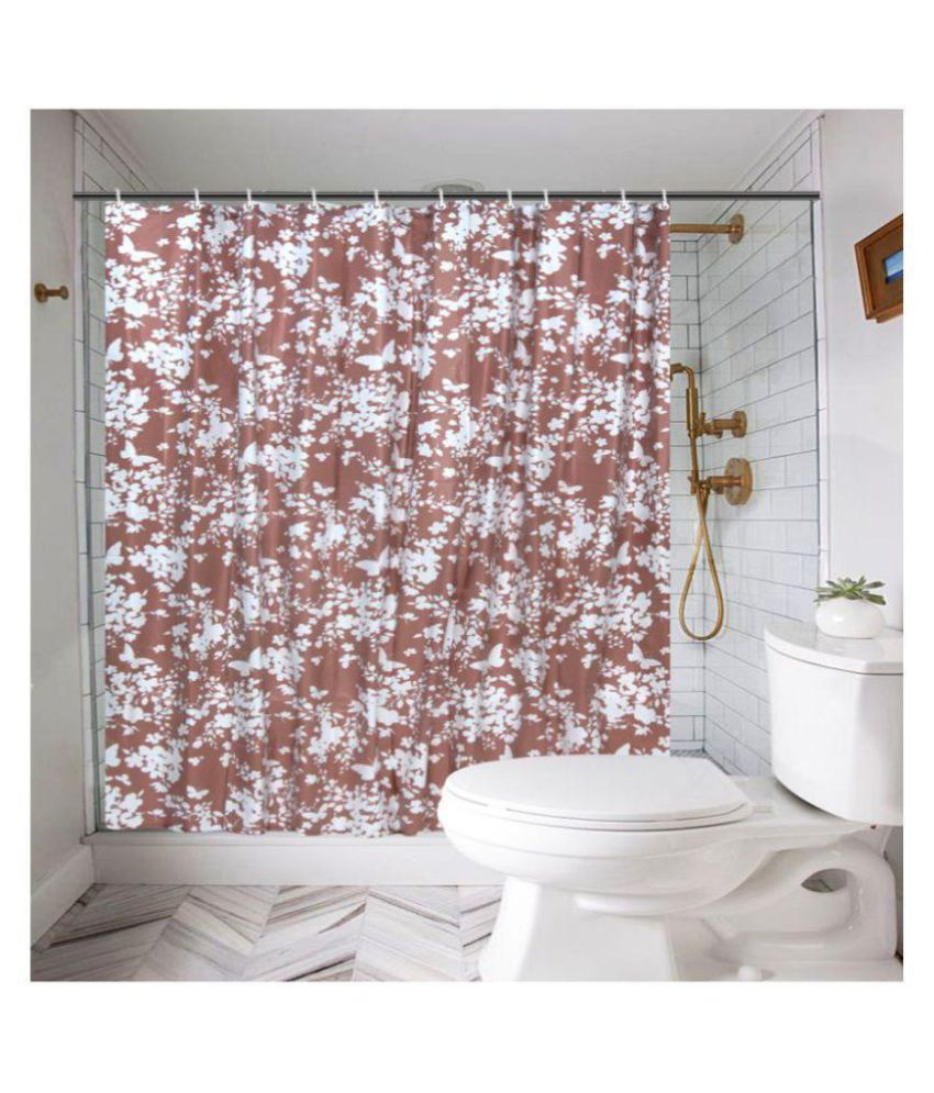 Delfe Single Shower Curtain Brown Others