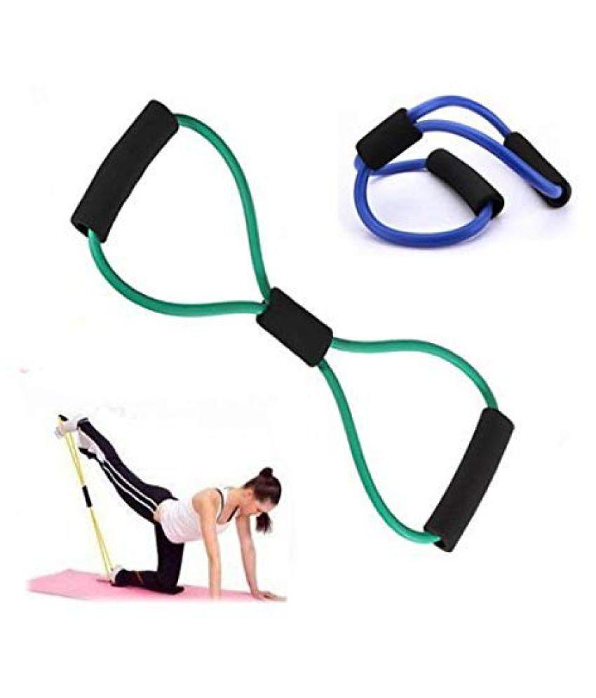 OTC® Soft Latex Figure 8 Yoga Fitness Workout Toning Resistance Tube Exercise Band for men  amp; Women