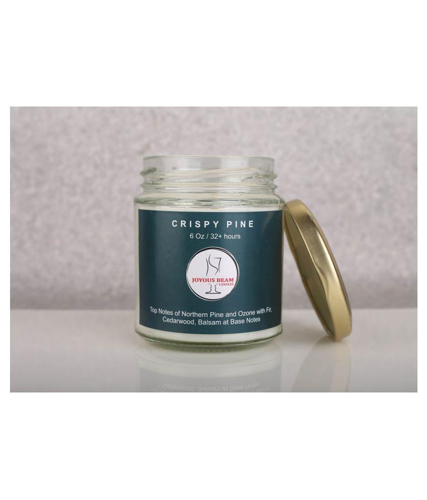 Joyous Beam White Jar Candle - Pack of 1