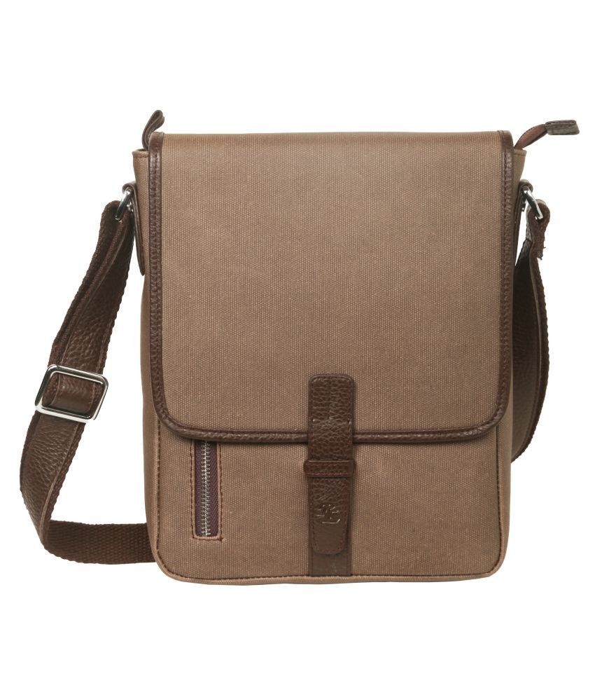 WalletsNBags Messenger sling bag Brown Canvas Casual Messenger Bag