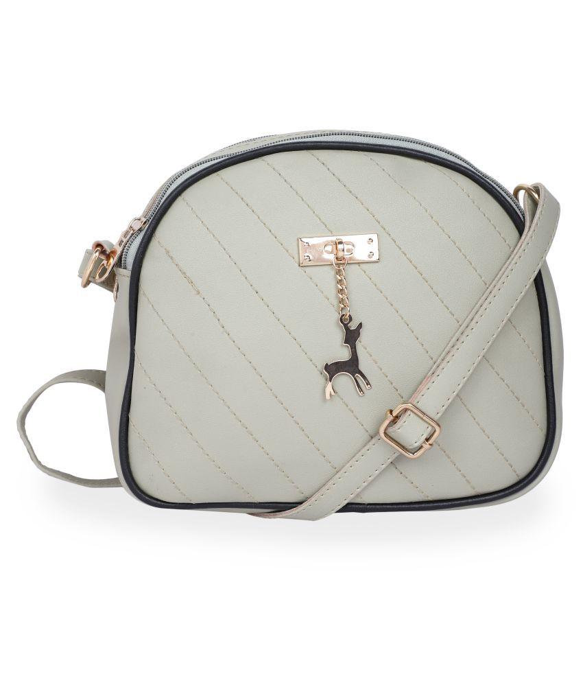 Vunik Lavender Faux Leather Sling Bag