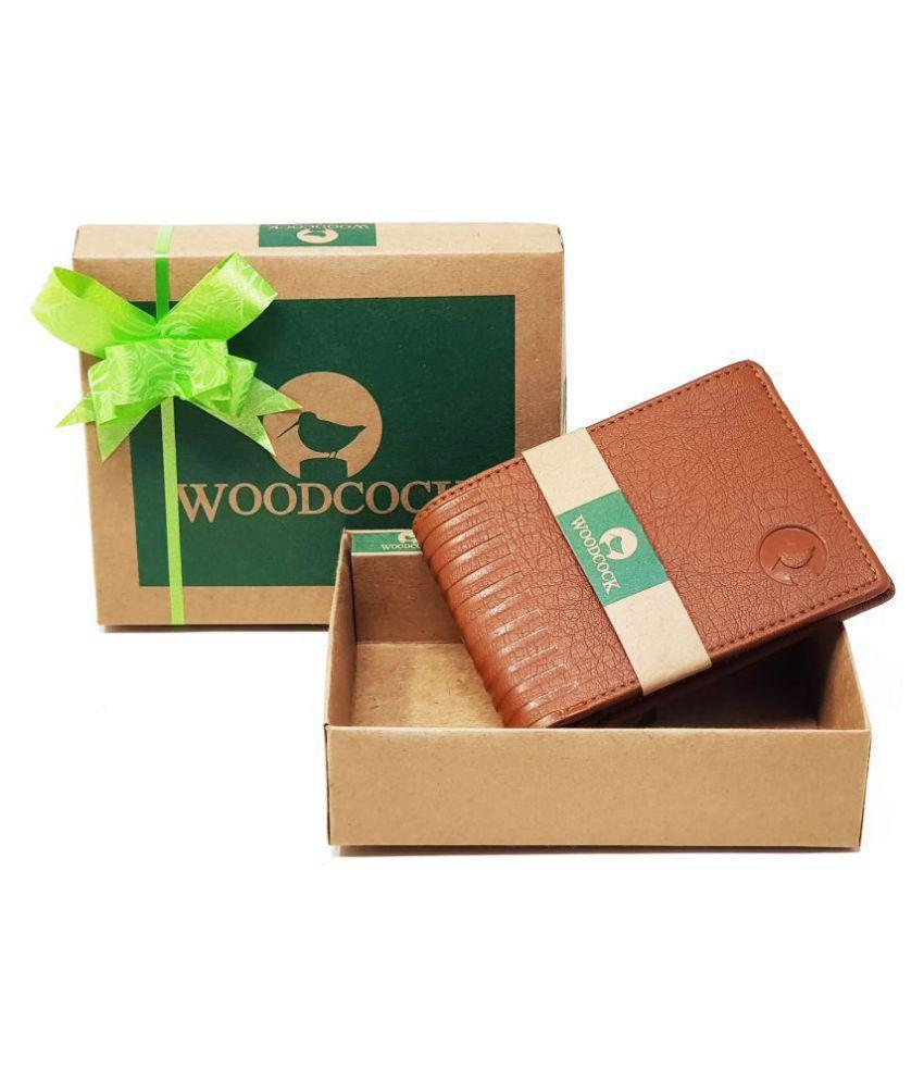 Woodcock PU Tan Casual Regular Wallet