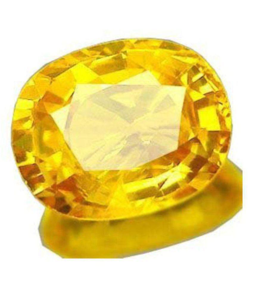 BARMUNDA gems 10 - 10.5 -Ratti Self certified Yellow Sapphire (Pukhraj)