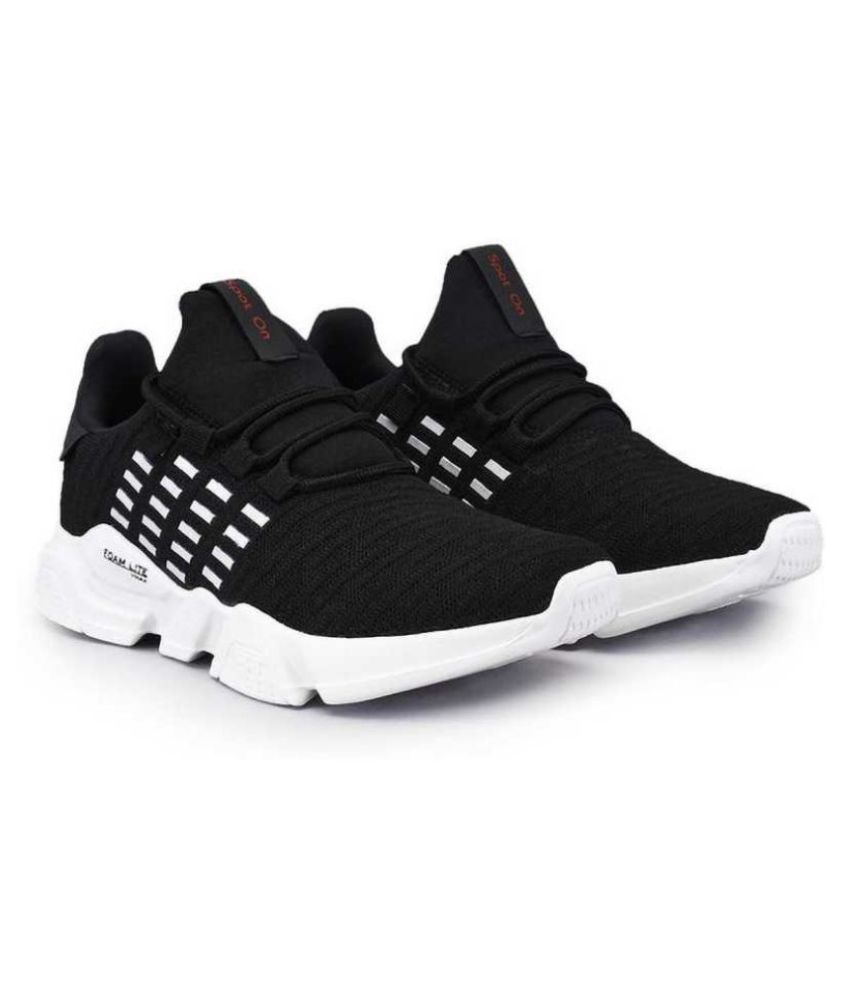Sspot On LUCKY-1 Black Running Shoes
