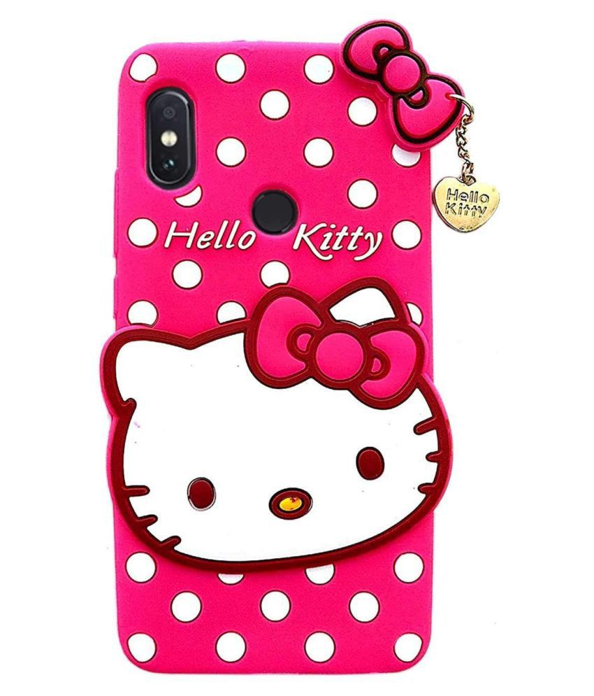 Xiaomi Redmi Note 6 Printed Cover By ClickAway Cute Hello Kitty Back Cover