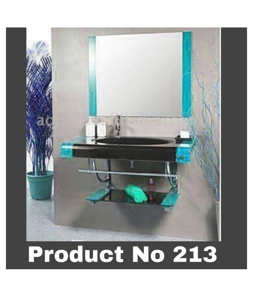 HIMANS Blue Toughened Glass Wall Hung Wash Basins