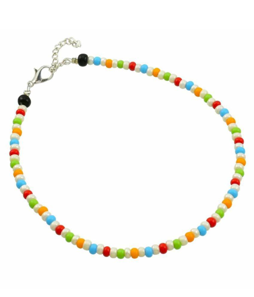 High Trendz Designer Multicolor Beads Single Anklet/Bracelet/Foot Jewellery