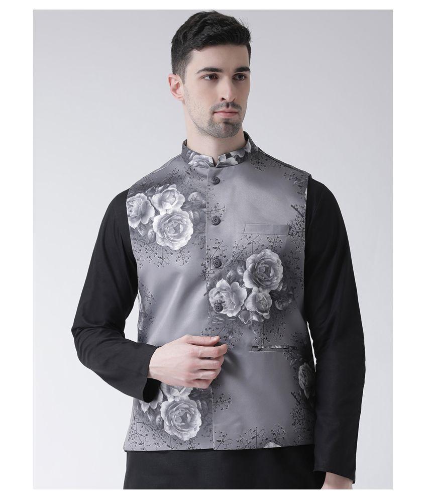 Tabard Grey Cotton Nehru Jacket
