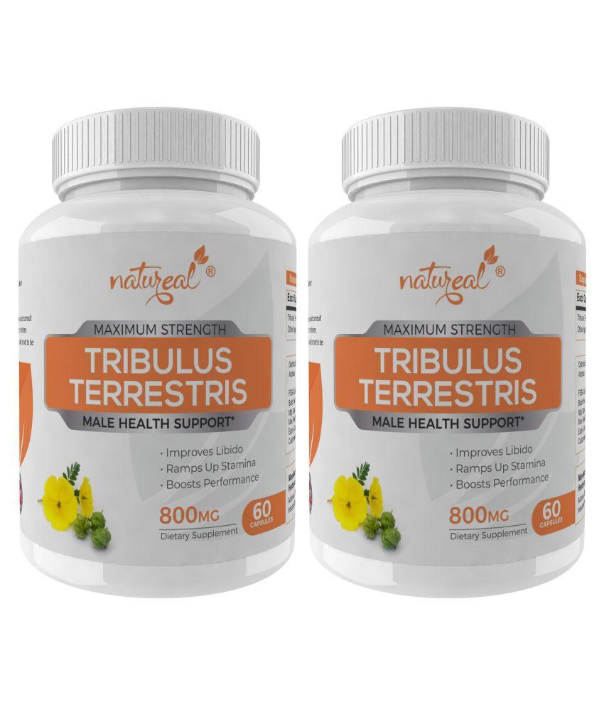 Natureal Tribulus Terrestris 800mg-Max Strength 120 no.s Capsule Pack of 2