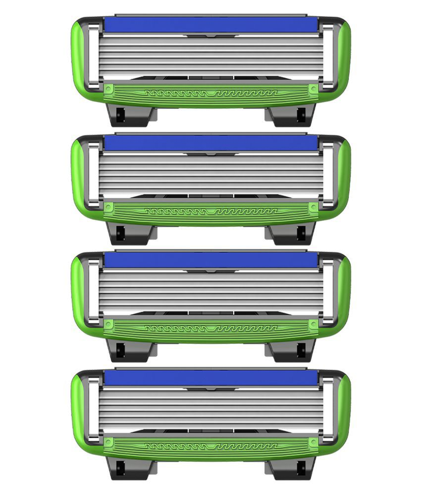 LetsShave Pro 6 Sensitive Shaving 4 Cartridges Pack of 4