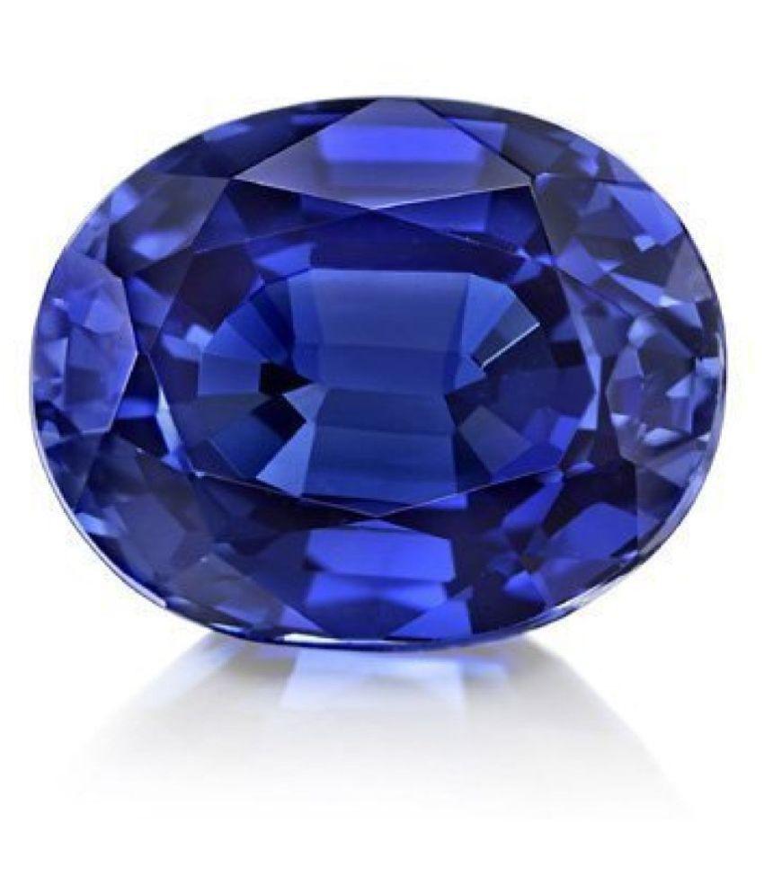 TODANI JEMS 3.25 -Ratti Self certified Blue Blue Sapphire (Neelam) Semi-precious Gemstone