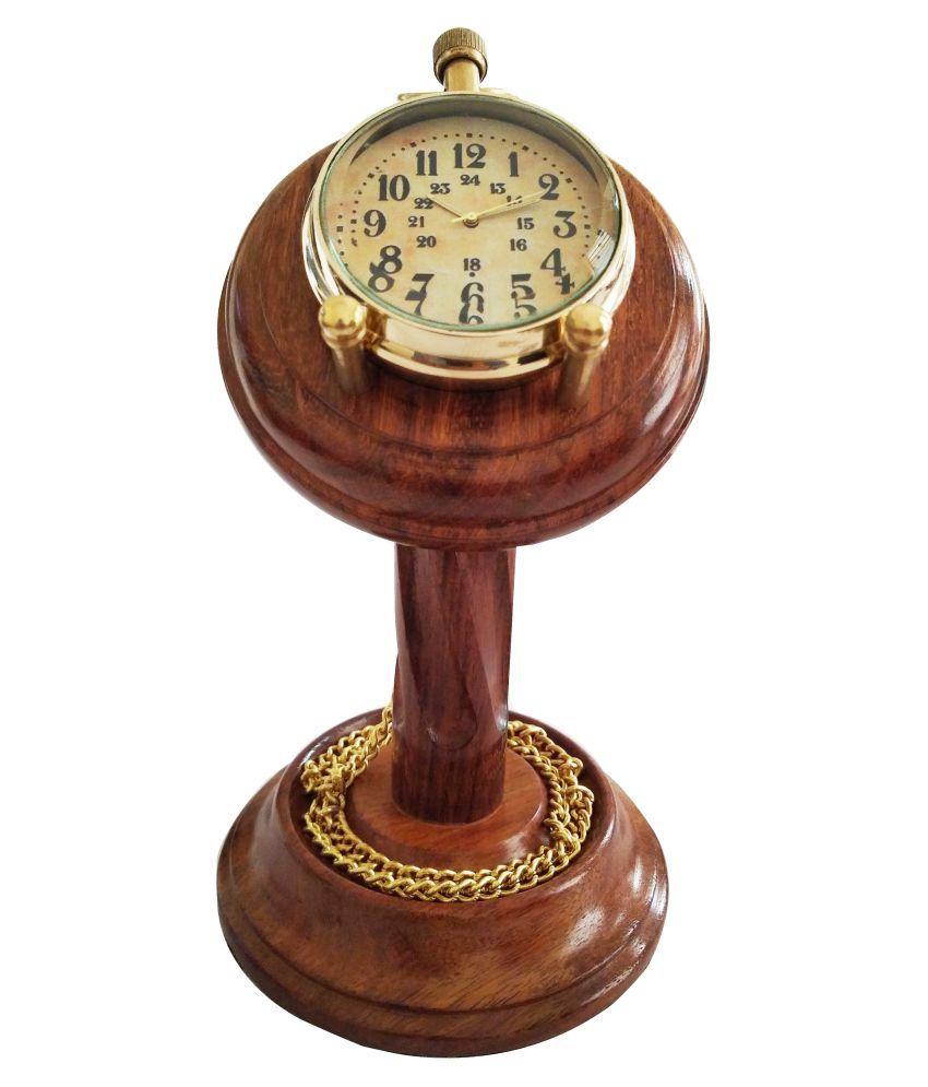 Artshai Round Analog Pocket Watch Chain