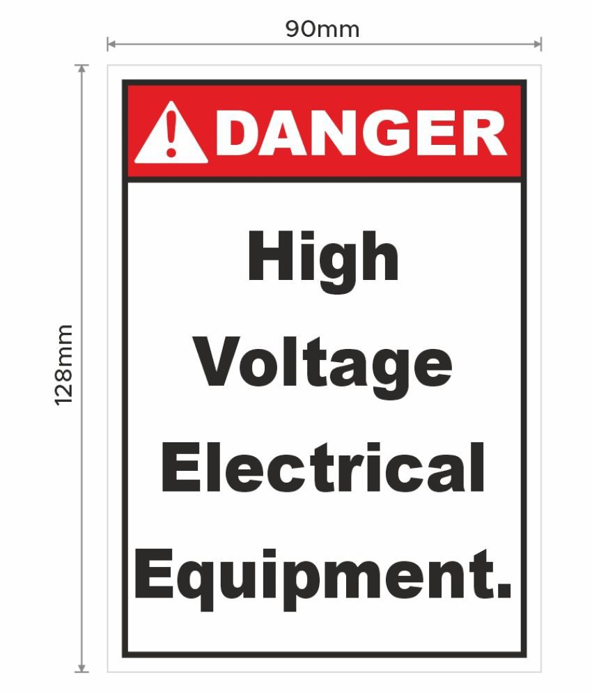 Danger High Voltage Electrical Equipment Signage Sticker for Safety purpose