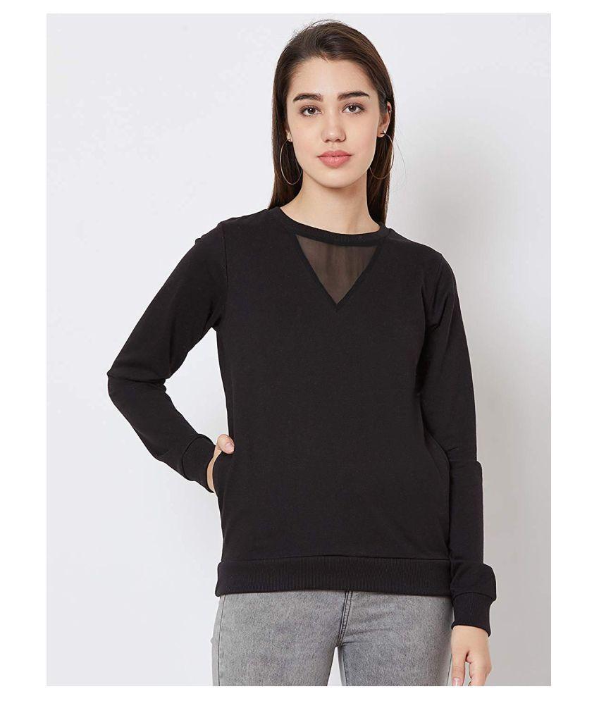 Nun Poly Cotton Black Hooded Sweatshirt