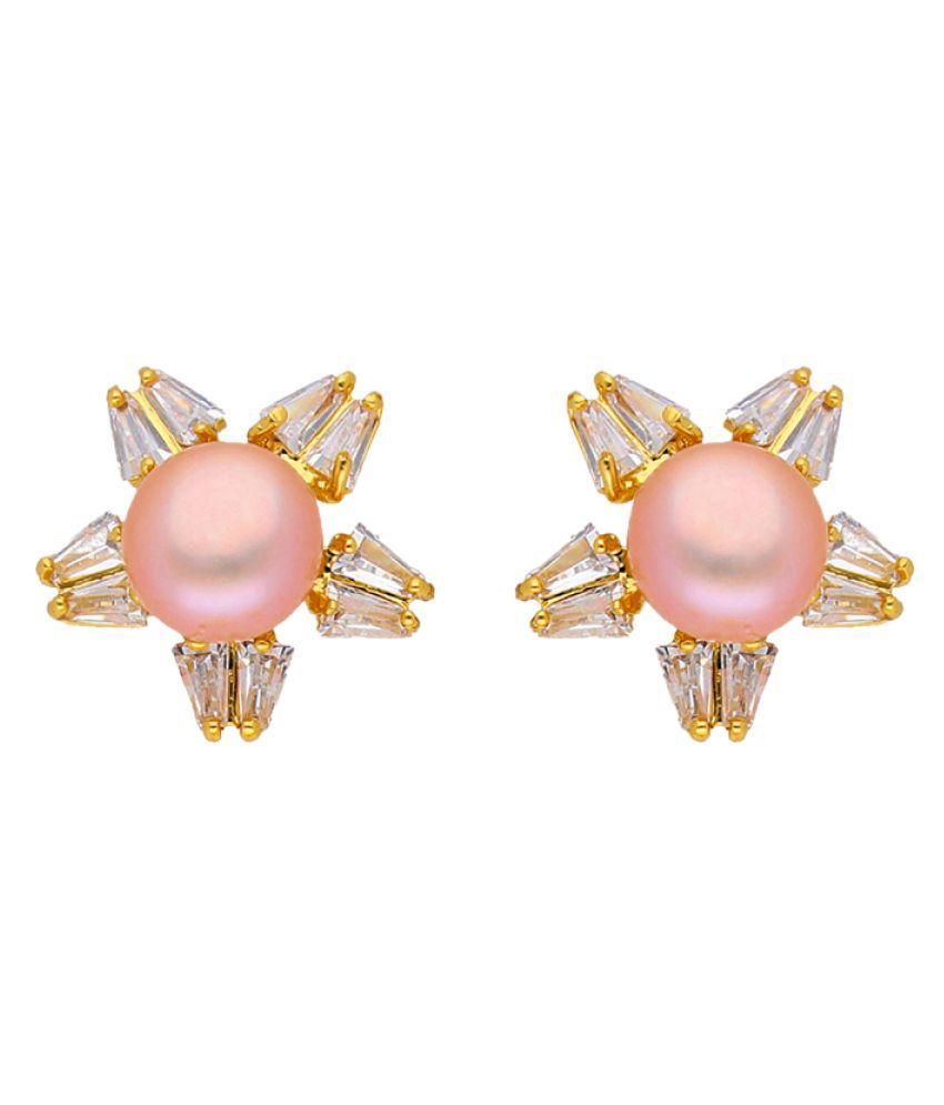 Star Pink Pearl Earrings\n