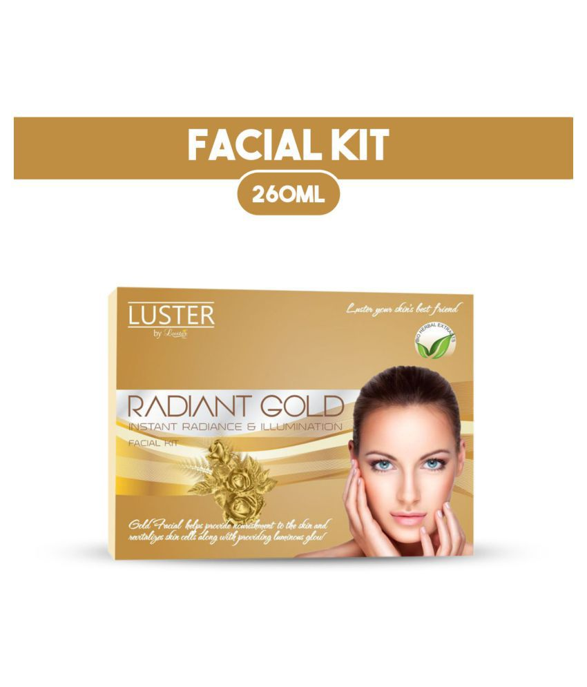 Luster Radiant Gold Instant Radiance & Lumination Facial Kit 260 mL Pack of 6