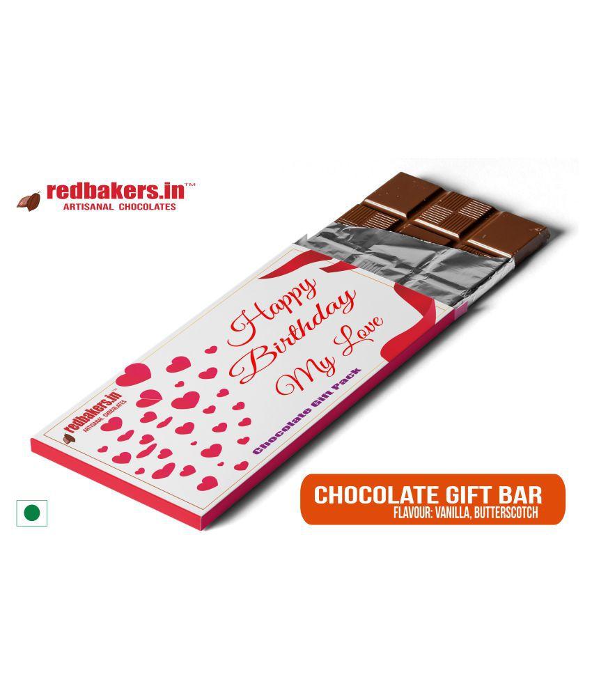 redbakers.in Chocolate Box Happy Birthday MYLOVE Chocolate Bar 100 gm