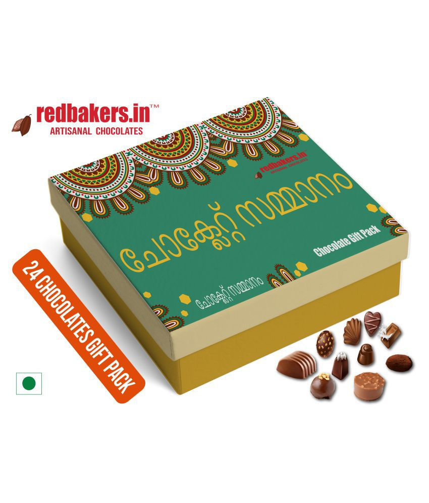 redbakers.in Chocolate Box MALAYALAM 24Chocolates Gift Pack 400 gm