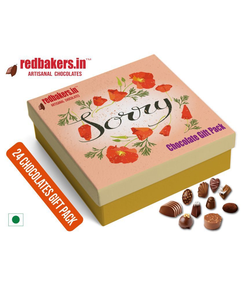 redbakers.in Chocolate Box Sorry 24Chocolates Pack 400 gm