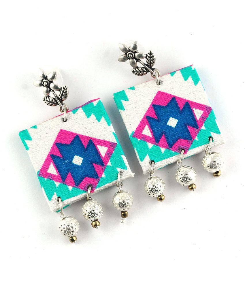 Feminin Multicolor Fabric Earring