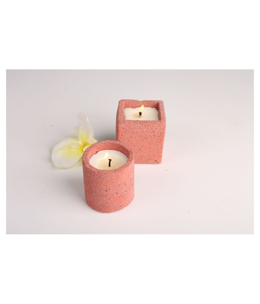Joyous Beam Red Pillar Candle - Pack of 2
