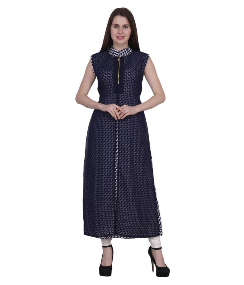 KMB ROYAL Georgette Blue A- line Dress