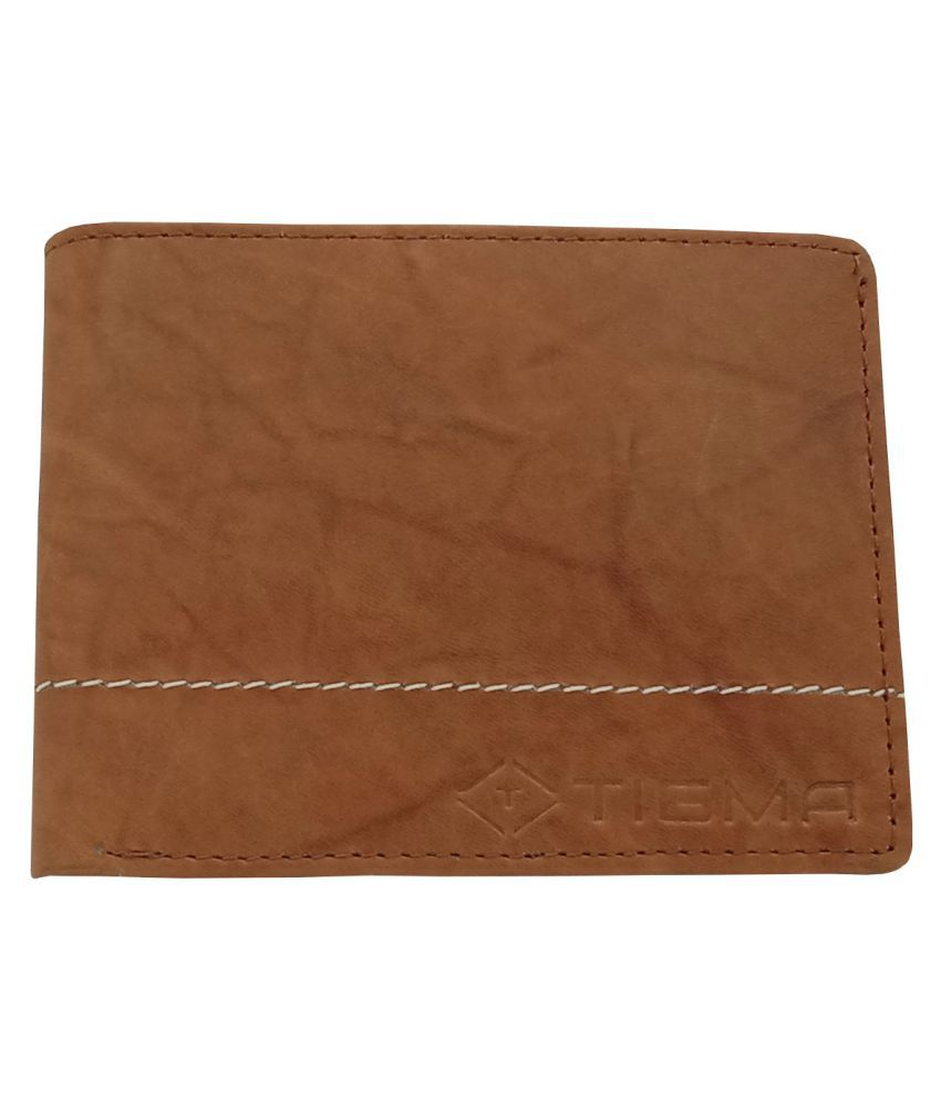 TIGMA Faux Leather Brown Casual Regular Wallet