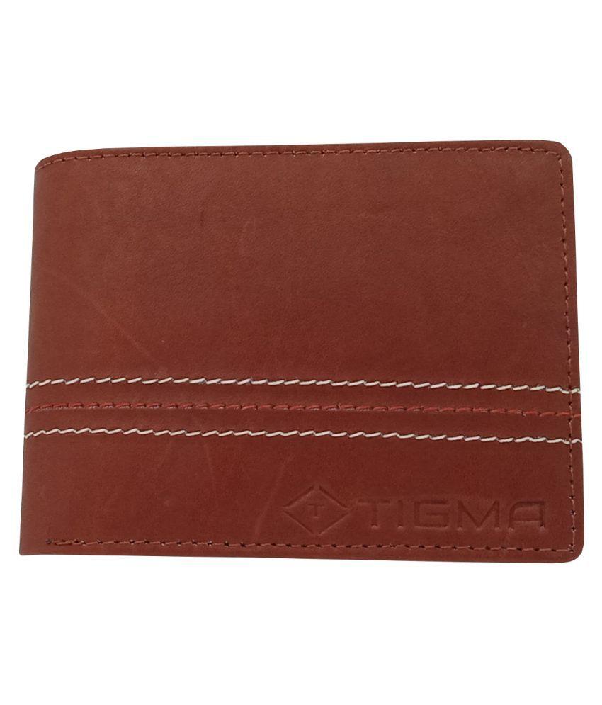 TIGMA Leather Brown Formal Regular Wallet