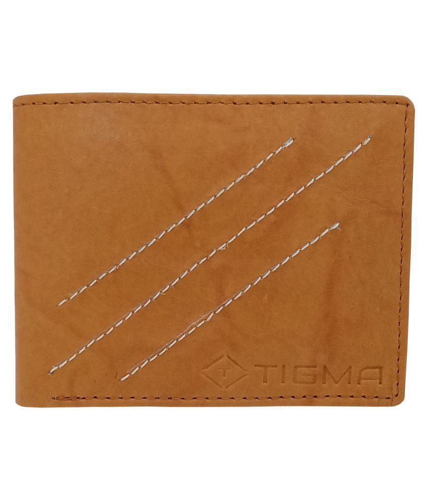 TIGMA Leather Tan Formal Regular Wallet