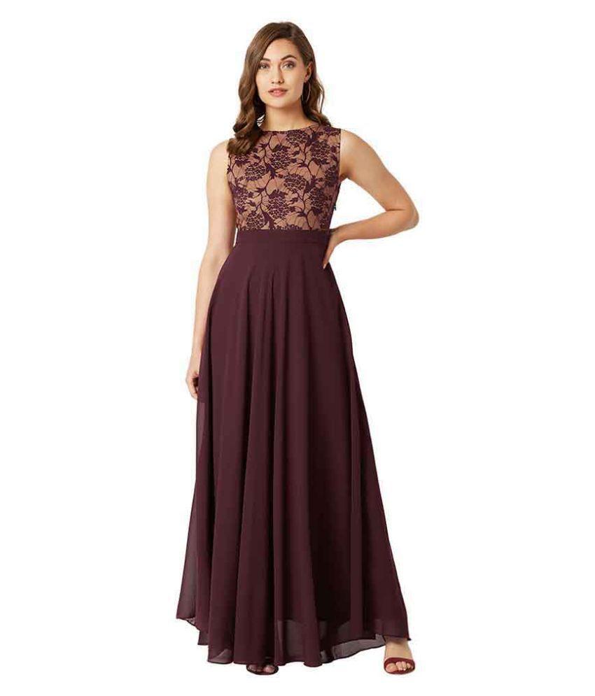 Miss Chase Georgette Multi Color Regular Dress