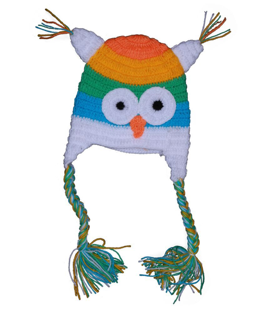 Mymeo Multicolor Owl Face Baby Cap