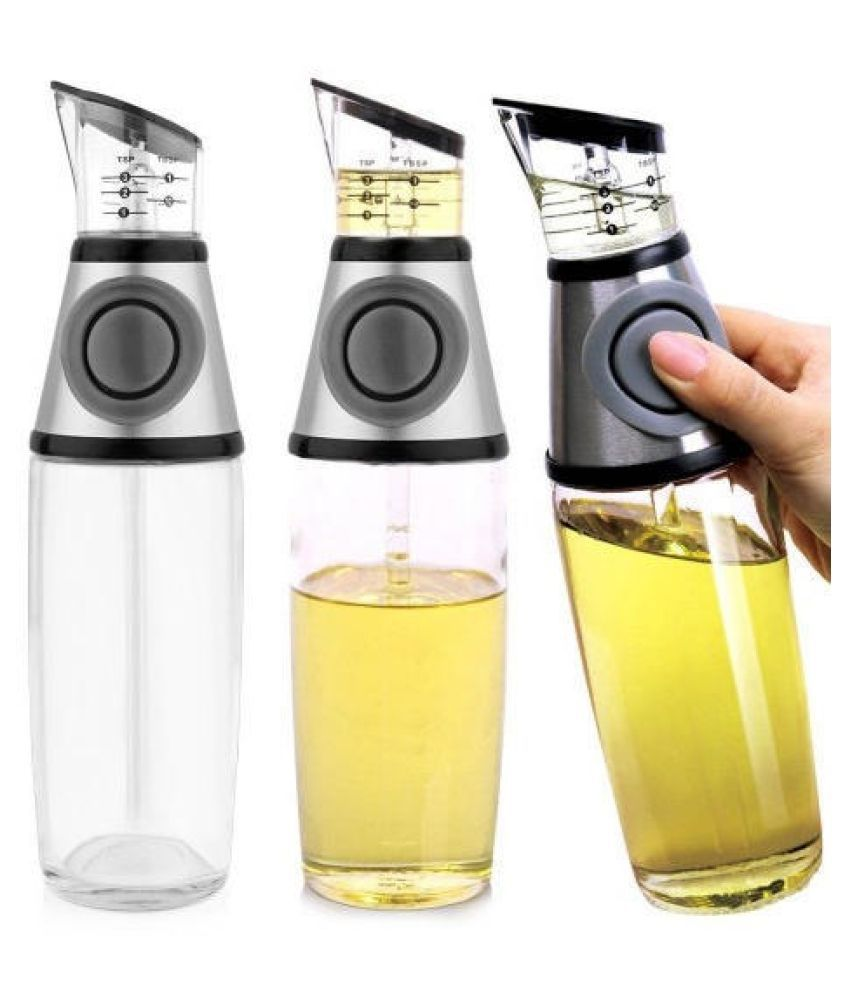 AIB Smart Glass Oil Container/Dispenser Set of 1 500 mL