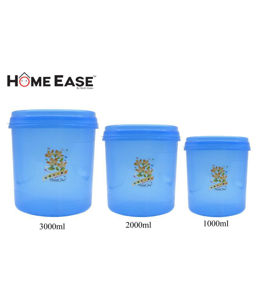 Harshpet Polyproplene Dal Container Set of 3 6000 mL