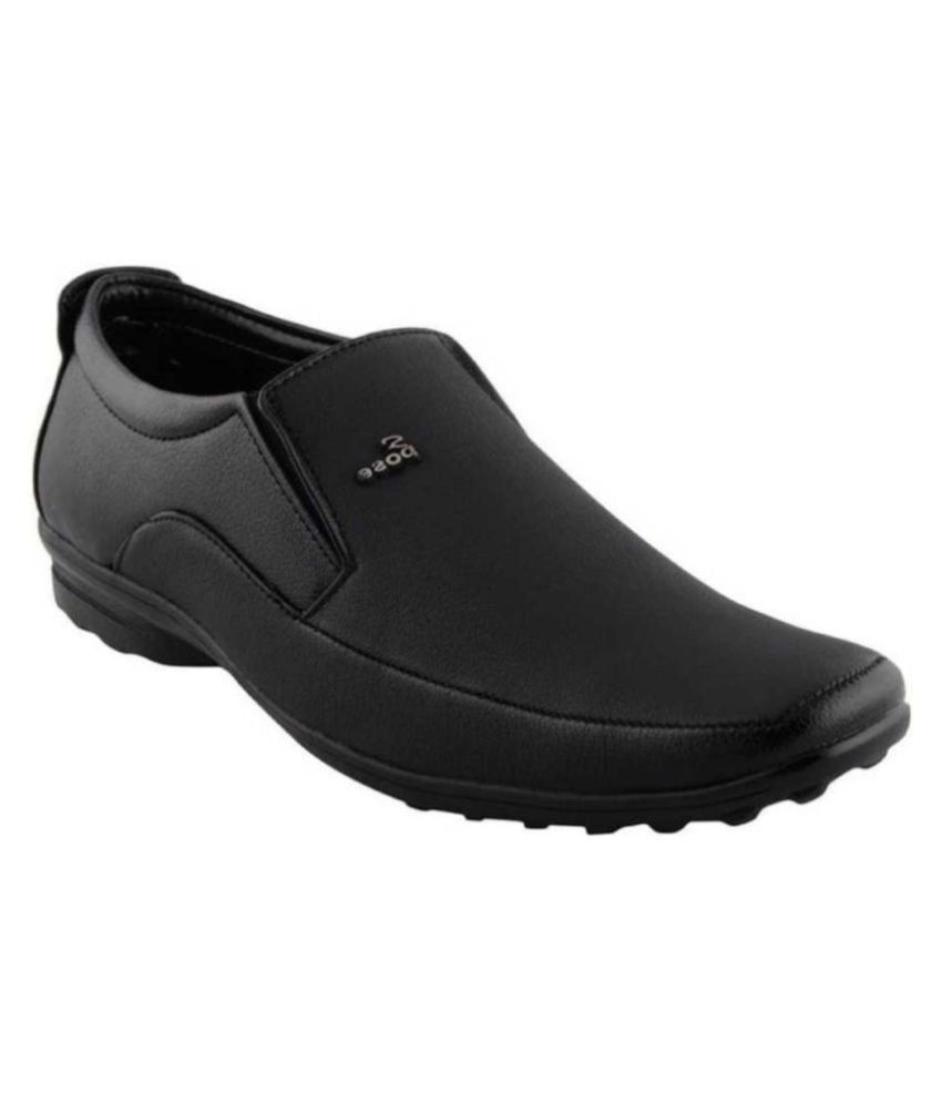 Aadi Non-Leather Black Formal Shoes