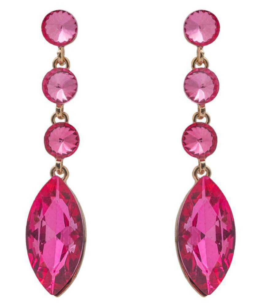 Kiyara Accessories Fashion Jewellery Layered Swarovski Glass Marquise  Earrings for Women and Girls