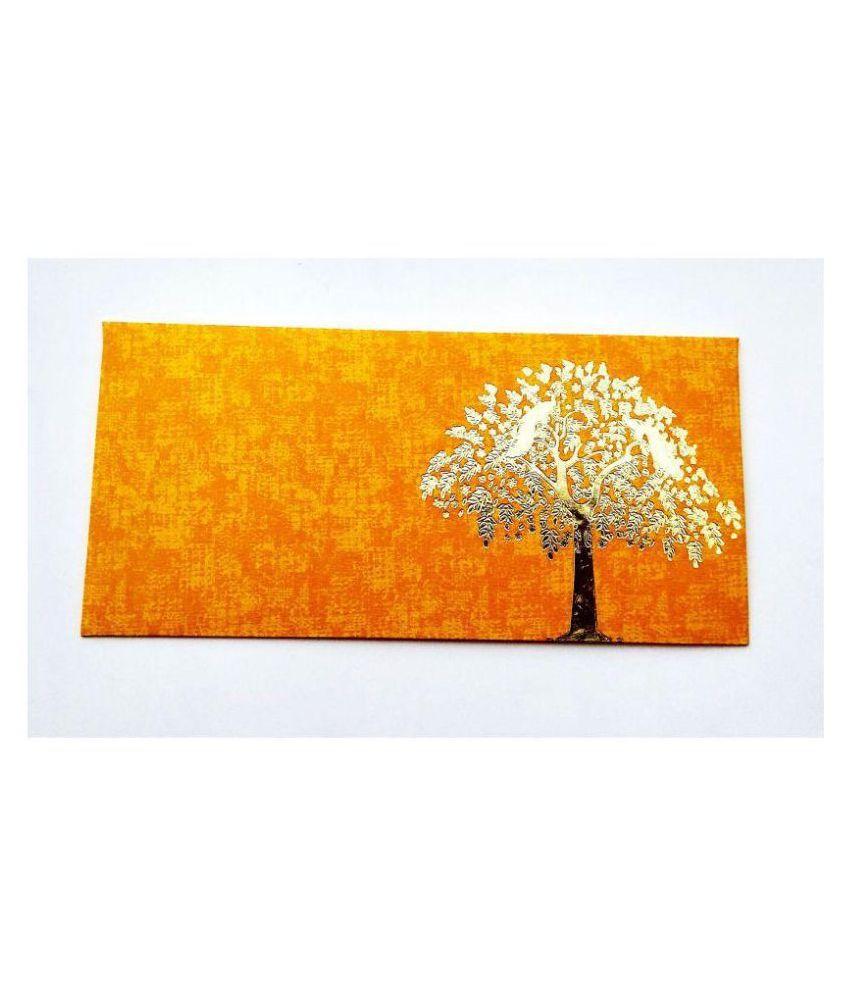 Parvenu Shagun Designer Tree Envelopes.Pack of 50 Pieces.