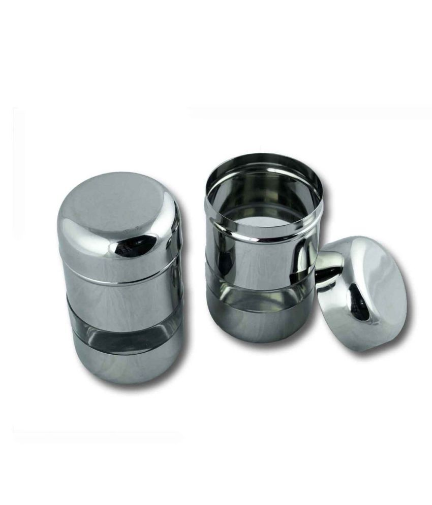 GoodEase Steel Tea/Coffee/Sugar Container Set of 2 350 mL