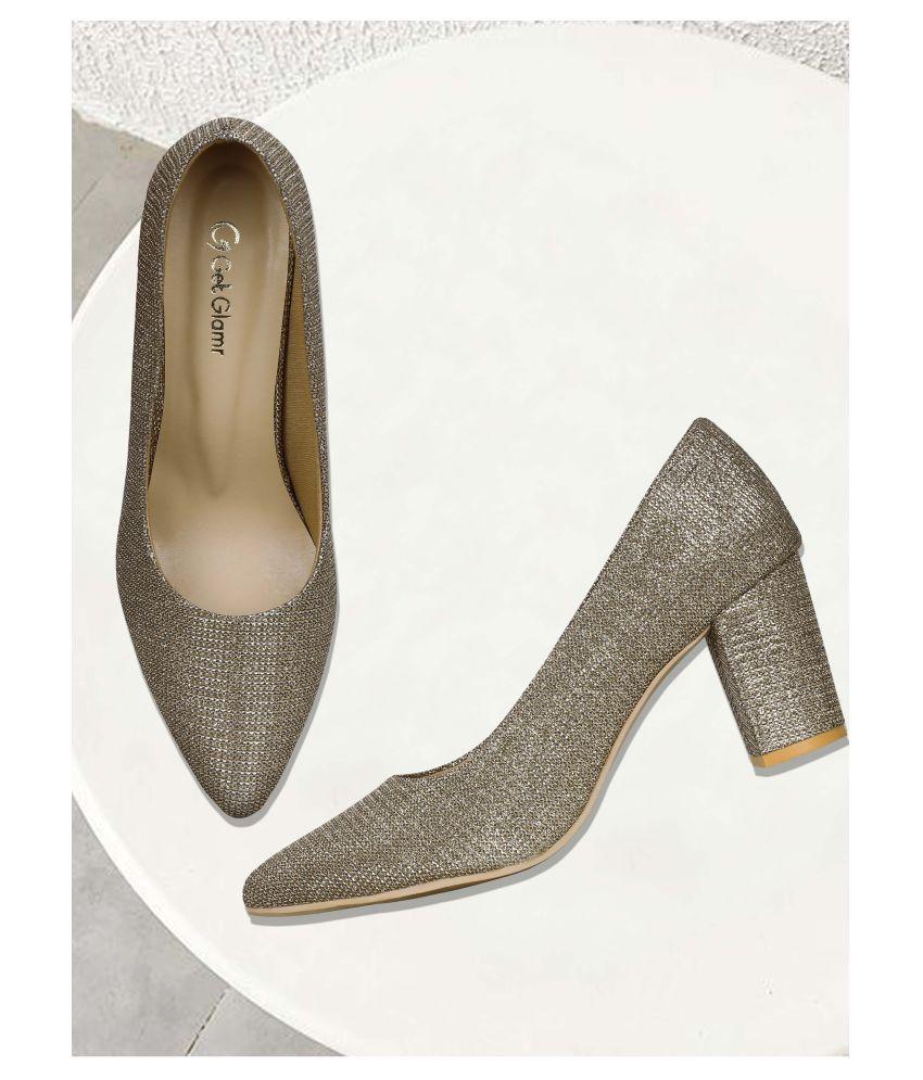 Get Glamr Brown Block Heels