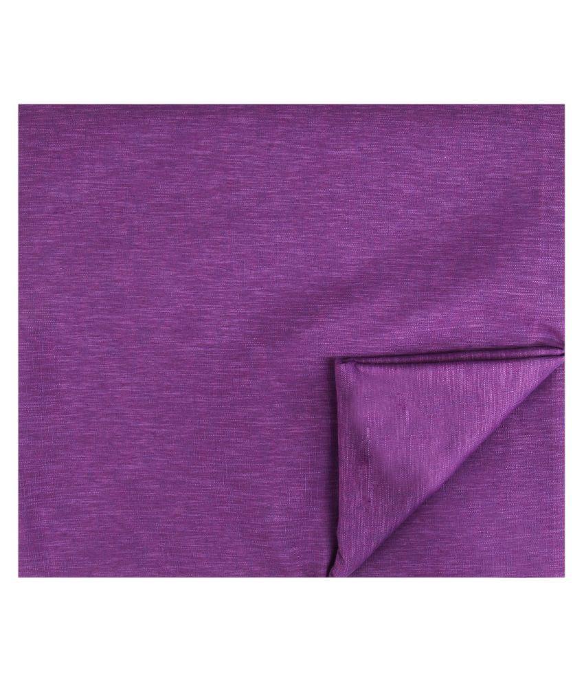 M Maharaja Purple Poly Blend Unstiched Kurta