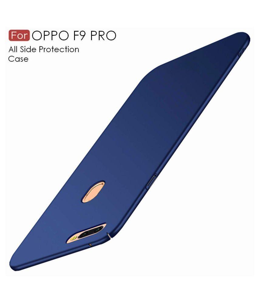 Oppo F9 Pro Plain Cases ClickAway   Blue Fourcut Back Cover
