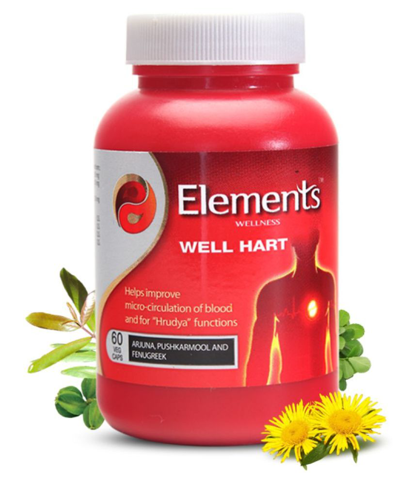 Elements Wellness WELL HART Capsule 60 no.s Pack Of 1