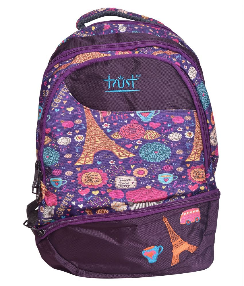 Trust Pink Polyester College Bag